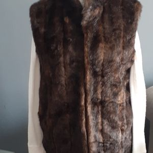 - Donna solyers brown faux fur vest size sma…